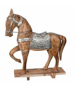 Deko Vintage Pferd mit Sattel und Geschirr