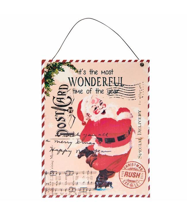 """Dekoschild """"Weihnachtsmann"""" Vintage"""