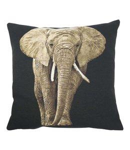 Kissen Vintage Kissenhülle Elefant 45x45