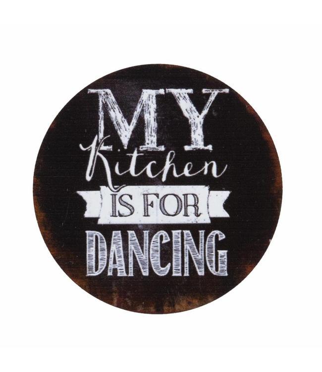 Kühlschrankmagnet My Kitchen is for Dancing