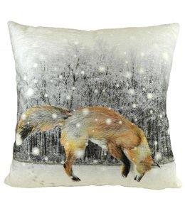 """Kissenhülle """"Fuchs im Schnee"""" 45x45"""