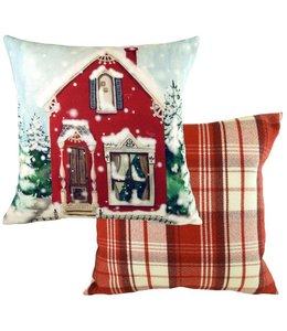 """Kissen Vintage Kissenhülle """"Weihnachten im Landhaus"""" 45x45"""