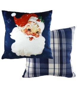 """Kissen Vintage Kissenhülle """"Weihnachtsmann"""" 45x45"""