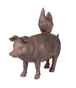 Clayre & Eef Schwein mit Huhn
