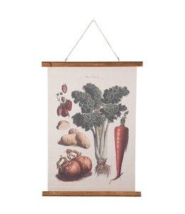 "Wandkarte Vintage ""Gemüse"" 55x75"