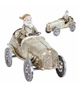 Weihnachtsdeko Vintage Weihnachtsmann im Auto