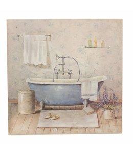 """Wandbild Vintage """"Badezimmer"""" 50x50"""