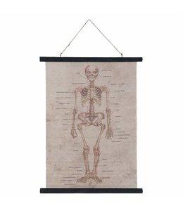 "Wandkarte Vintage ""Skelett"" 55x75"
