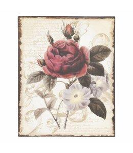 """Clayre & Eef Bild """"Rote Rose"""""""