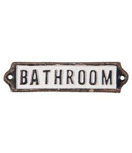 """Deko-Schild """"Bathroom"""" Vintage"""
