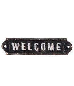 """Dekoschild """"Welcome"""" Altschwarz, Vintage"""