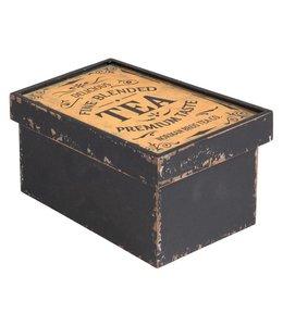 Teedose, Holz-Schachtel