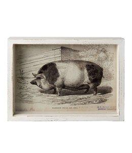 """Wandbild """"Schwein"""" 28x22 Vintage"""