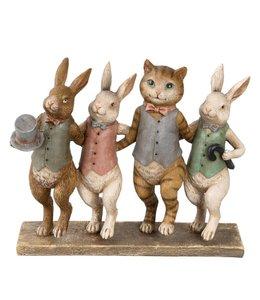 """Osterhase Vintage """"Schicke Osterhasen mit Katze"""""""