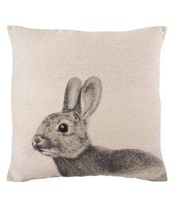 """Kissen Vintage Kissenhülle """"Kaninchen"""" 45x45"""