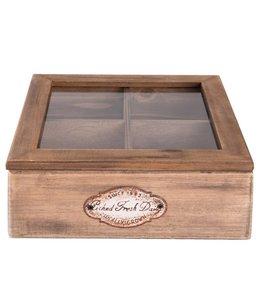 Teeboxen Vintage Teebox Holz