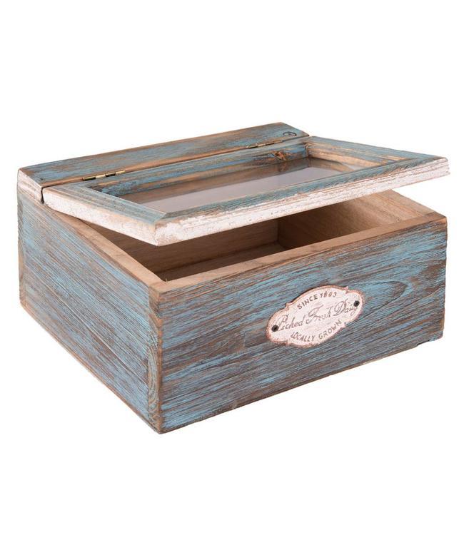 """Aufbewahrungsbox Landhaus """"Blue Cottage"""""""