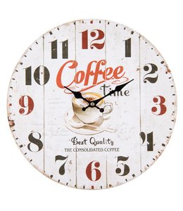 "Wanduhr Landhaus Wanduhr Landhausstil ""Coffee Time"""