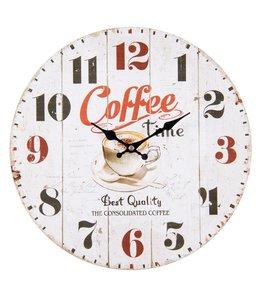 """Wanduhren Vintage Küchenuhr """"Coffee Time"""" Ø 34 Vintage"""