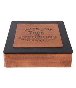 """Teeboxen Vintage Teebox Landhaus """"Depuis 1868"""""""