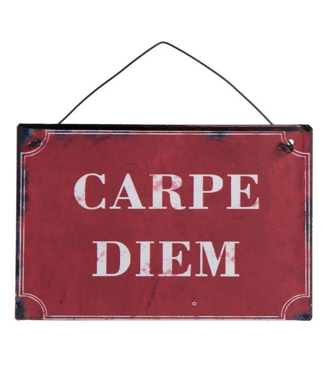 """Deko-Schild """"Carpe Diem"""" Vintage"""