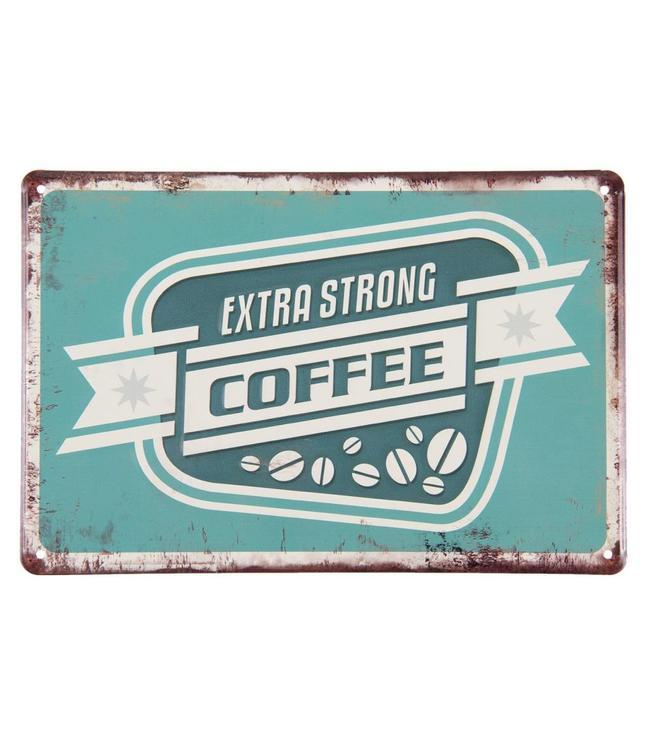 """Schilder Vintage Dekoschild """"Extra Strong Coffee"""""""