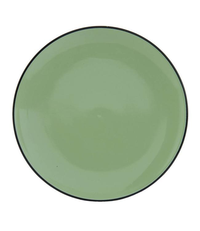 "Teller ""Emaille Look"" Keramik, grün"