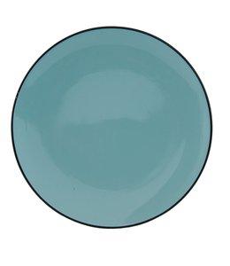 "Teller ""Emaille Look"" Keramik, blau"