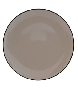 """Teller """"Emaille Look"""" Keramik, grau"""