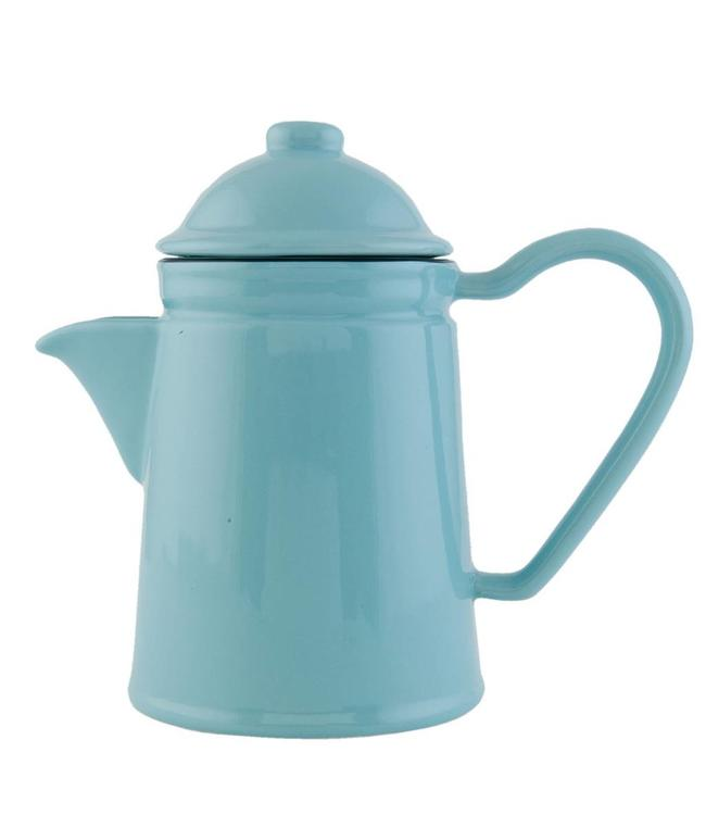 """Teekanne """"Emaille Look"""" Keramik, blau"""