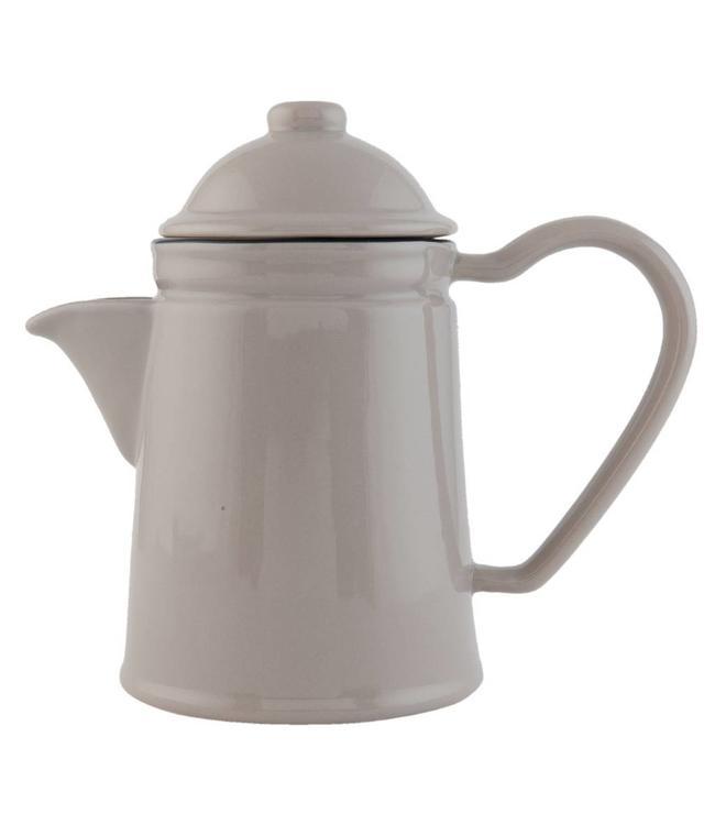 """Teekanne """"Emaille Look"""" Keramik, grau"""