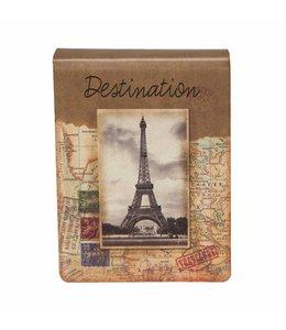 """Notizbücher Vintage Notizbuch """"Destination Paris"""""""