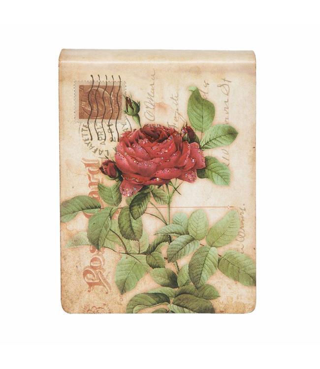 "Notizbuch ""Rote Rose"" Vintage"