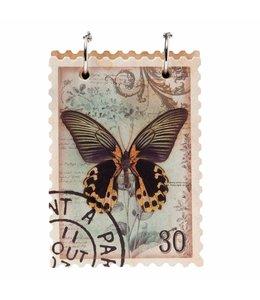 """Notizbuch """"Schmetterling"""" Vintage"""