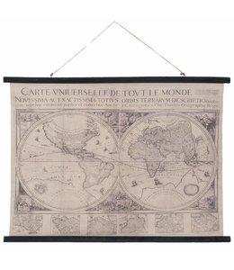 """Wandkarte Vintage """"Geographische Karte"""" 105x76"""