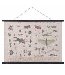 """Wandkarte Vintage """"Insekten"""" 105x76"""