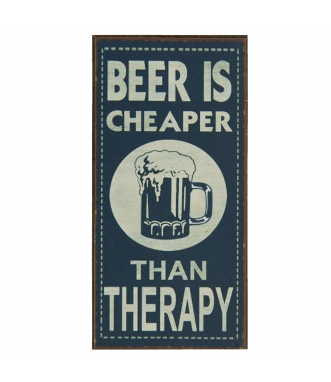 """Kühlschrankmagnet """"Beer is Cheaper than Therapy"""""""