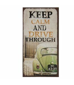 "Kühlschrankmagnet ""Keep Calm and drive through"""