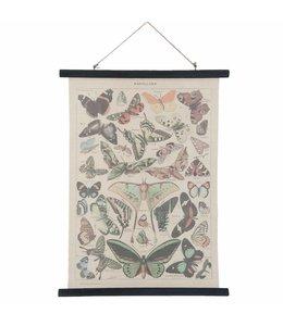 """Wandkarte Vintage """"Schmetterlinge"""" 55x75"""