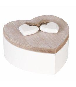 """Aufbewahrungsdose  aus Holz """"Herz"""""""