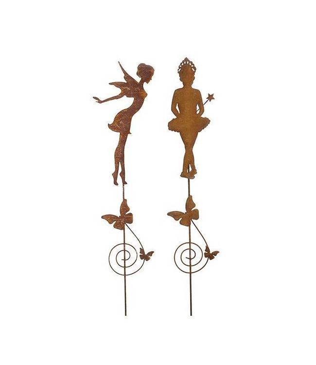 """Gartenstecker Edelrost """"Feen-Set"""" 150 cm"""
