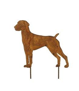 """Gartenstecker Rost """"Dogge"""" 44 cm"""