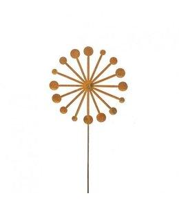 """Gartenstecker Edelrost """"Pusteblume"""" 120cm"""