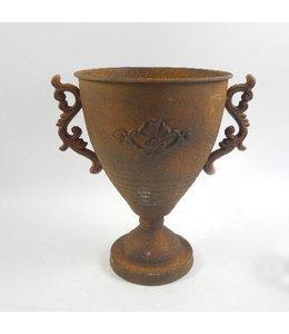 Metall Pokal mit Griffen