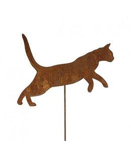 """Gartenstecker Rost """"Katze"""" 125cm"""