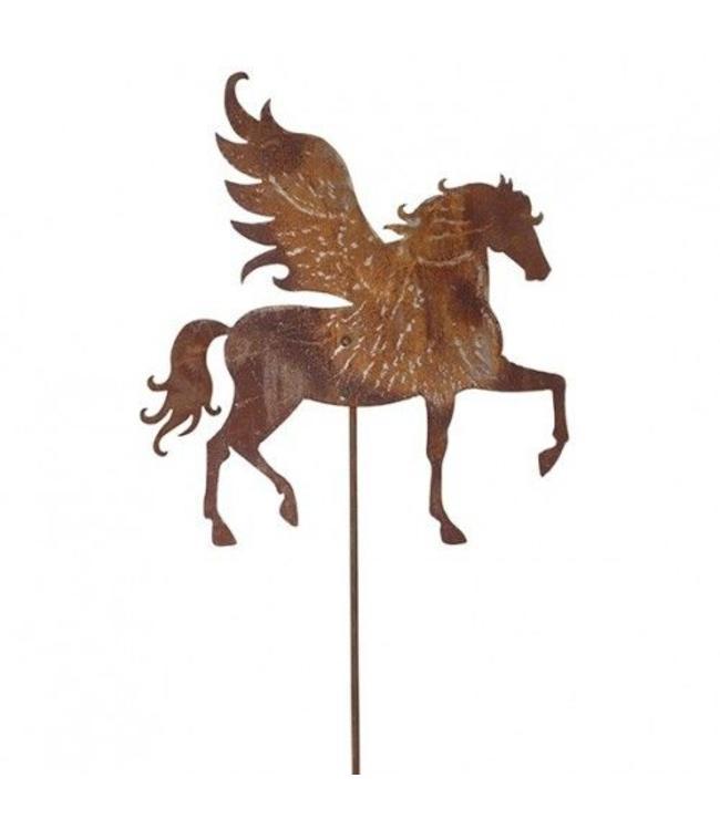 "Gartenstecker Rost ""Pegasus"" 120cm"