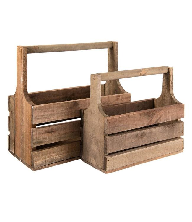 Holzkisten 2er-Set - Landhausstil