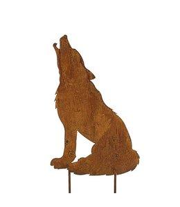 """Gartenstecker Rost """"Wolf"""" (2 Größen)"""
