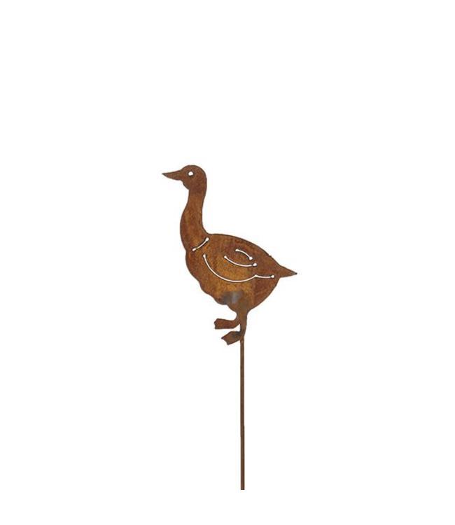 """Gartenstecker Rost """"Ente"""" 68 cm"""
