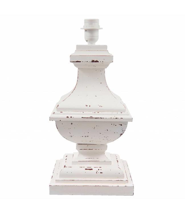 Lampenfuß Landhaus Antik-Weiß